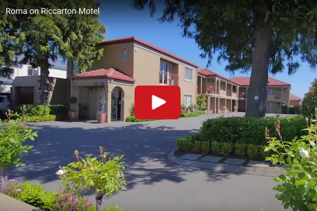 Roma on Riccarton - Showing the front of the motel - link to video on youtube